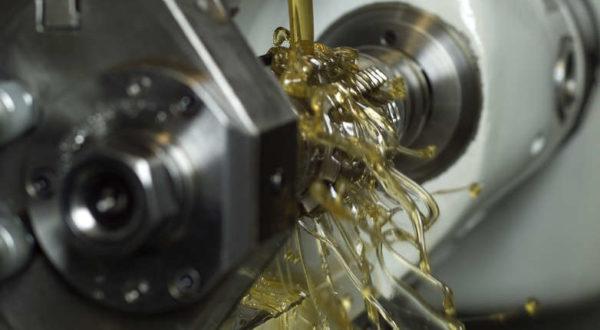 oil in a machine